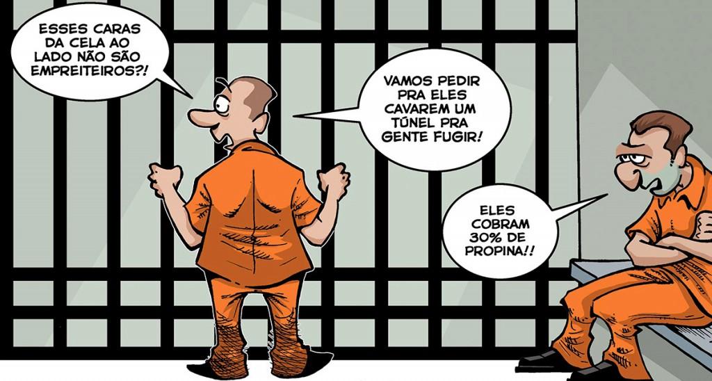 Resultado de imagem para CHARGES - CADEIA MAL FREQUENTADAS