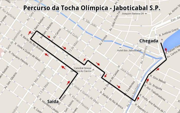 Percurso da Tocha Olímpica