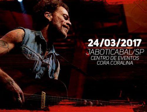 Nando Reis se apresentará em Jaboticabal