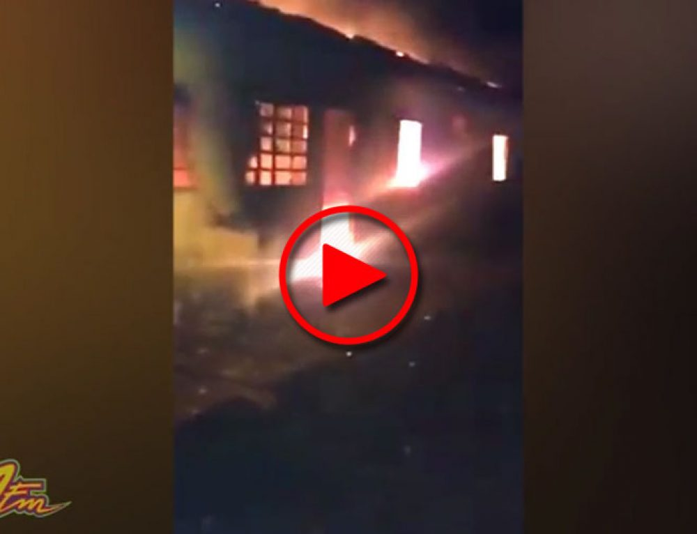 Pegou fogo