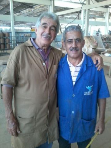 Personagens importantes de empresa de cerâmica. À esquerda, 'Page'. À direita 'Batista' (Foto: José Luís Moiteiro/Jornal 101)