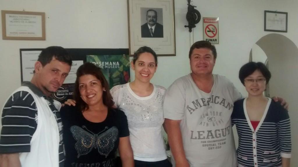 Responsáveis pelo Museu de Jaboticabal (Foto: Reginaldo Coelho/ Jornal 101)