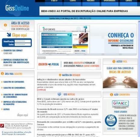 Alguns empresários se queixaram de problemas e dificuldades em trabalhar com o novo sistema (Imagem ilustrativa/Site Giss Online)