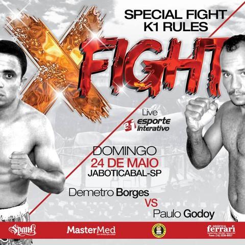 X Fight MMA contará com uma luta de Demetro Borges (Imagem: Divulgação)