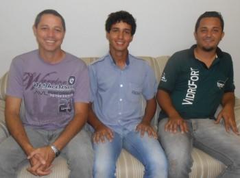 Organizadores da Copa Cristã: Wender Wander ao lado de De Paula (à esquerda) e Renato de Matos (à direita)