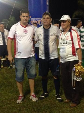 Ao centro, o artilheiro Márcio, que fez vinte gols na competição (Foto: Evandro Nascimento)