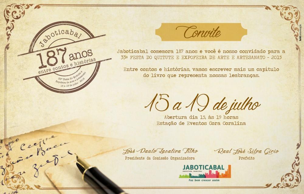 Convite para a Festa do Quitute (Imagem: Assessoria de Imprensa/Prefeitura de Jaboticabal)