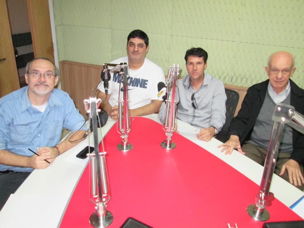 Ricardo Gestal, Flávio Abimussi (ambos à esquerda), Marcelo Mazeo e Carmo Leonildo (ambos à direita) (Foto: Téo Jordão/Jornal 101)