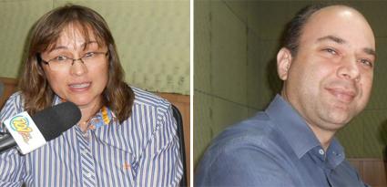 Secretários de Administração Pública e Negócios Jurídicos da Prefeitura, Cesar Poletti e Mirela Senô, respectivamente