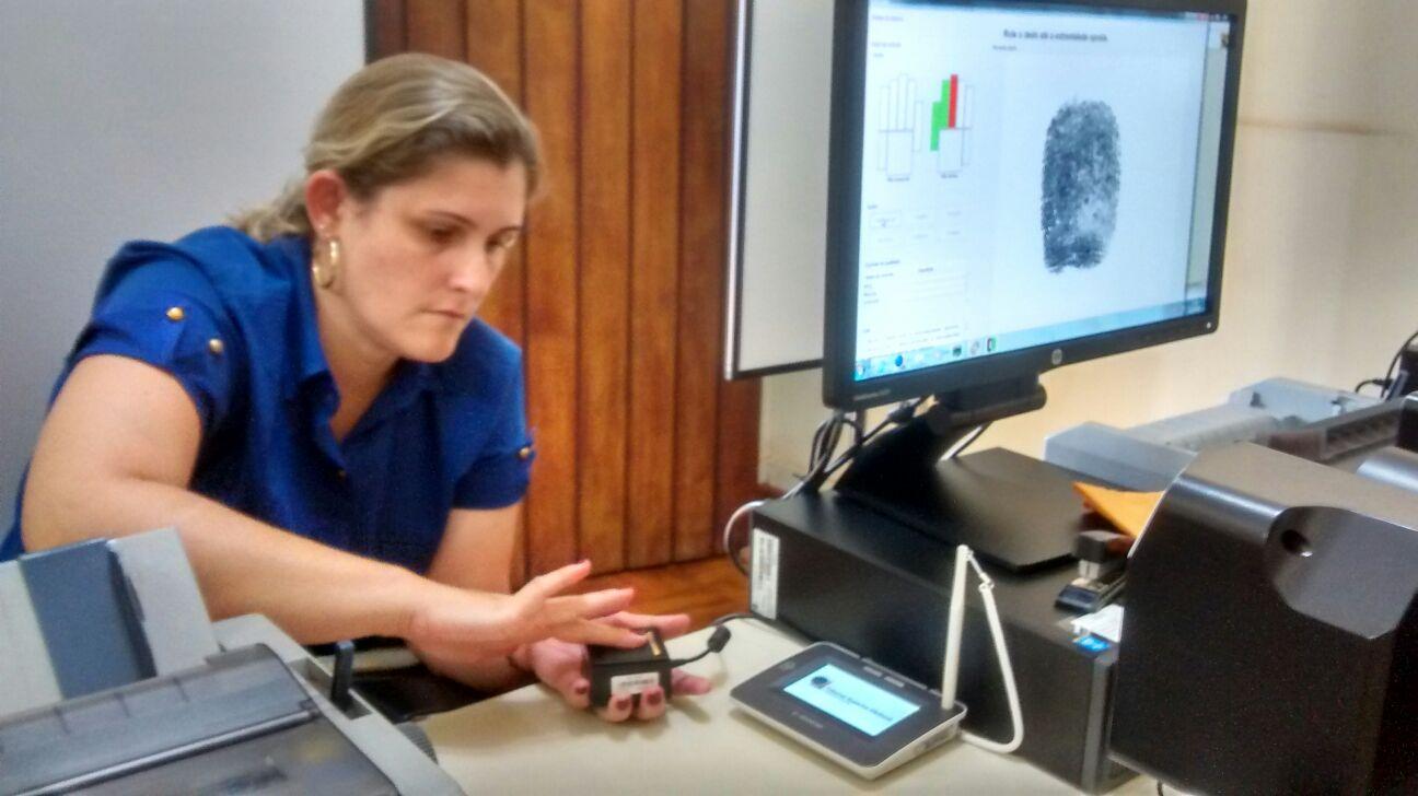 O cadastramento biométrico já começou em Jaboticabal (Foto: Reginaldo Coelho/Jornal 101)