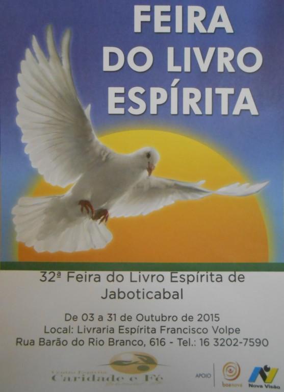 """Cartaz da """"Feira do livro espírita (Divulgação)"""