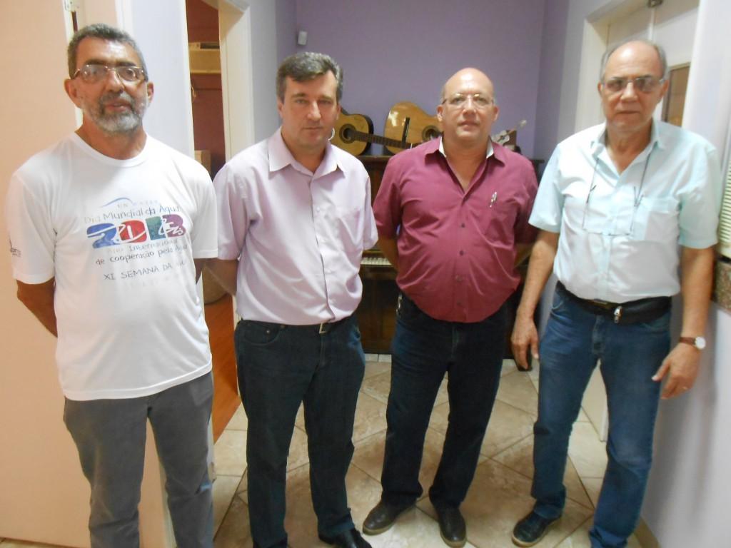 Da esquerda para a direita, Aparecido Hojaij, Augusto Gouvêa, Amauri Moreira e Luiz Augusto Amaral (Foto: Fábio Penariol/Jornal 101)