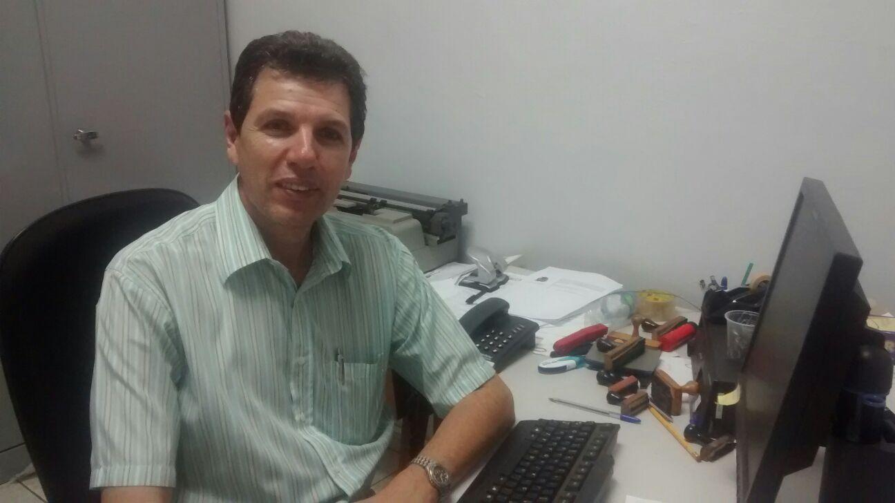 Escrivão de polícia Mário Leandro Vieira, premiado como policial civil do ano (Foto: Reginaldo Coelho/Jornal 101)