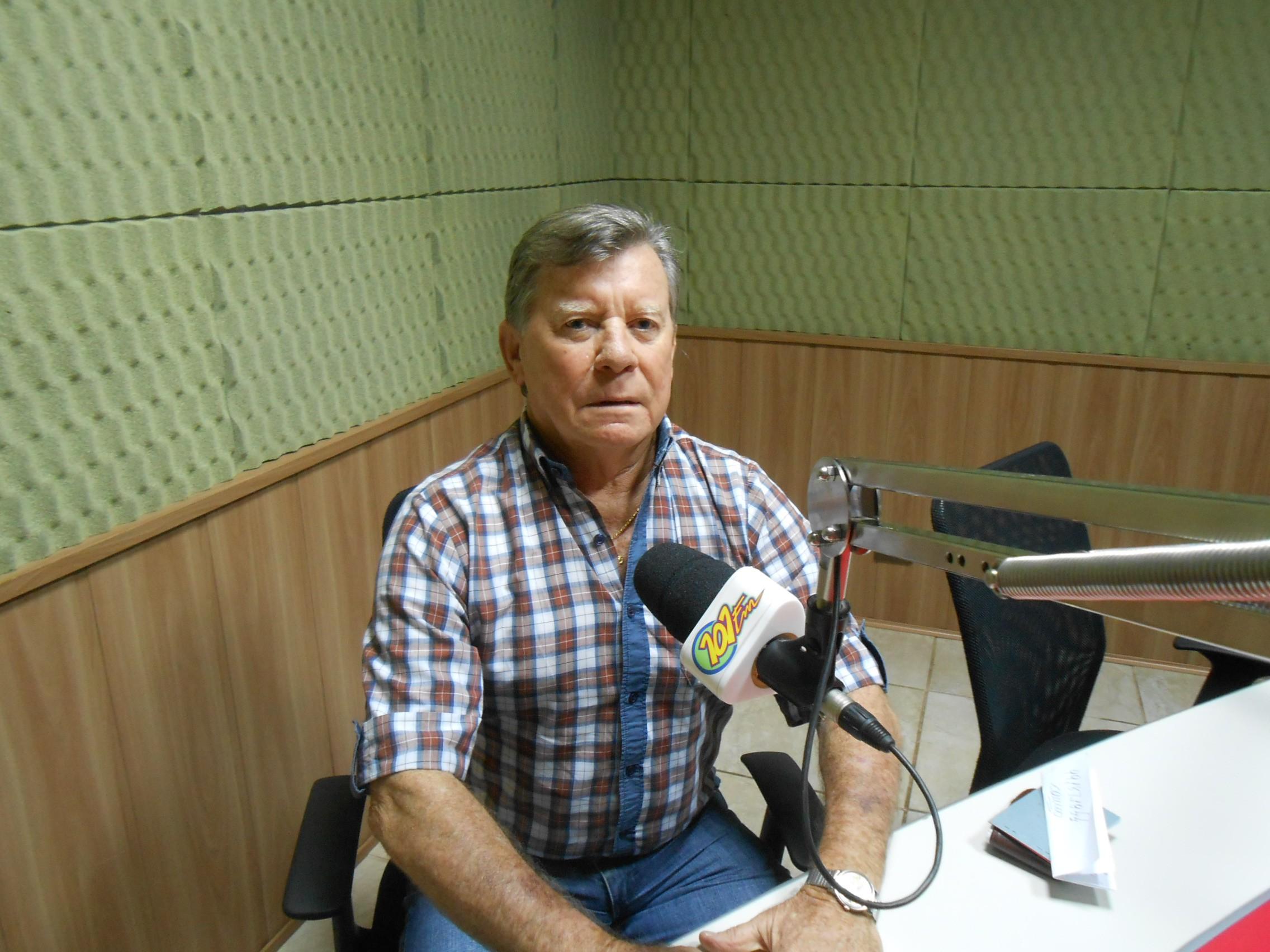 José Francisco Baratela, presidente do Lar Acolhedor São Vicente de Paulo (Foto: Ricardo Gestal/Jornal 101)