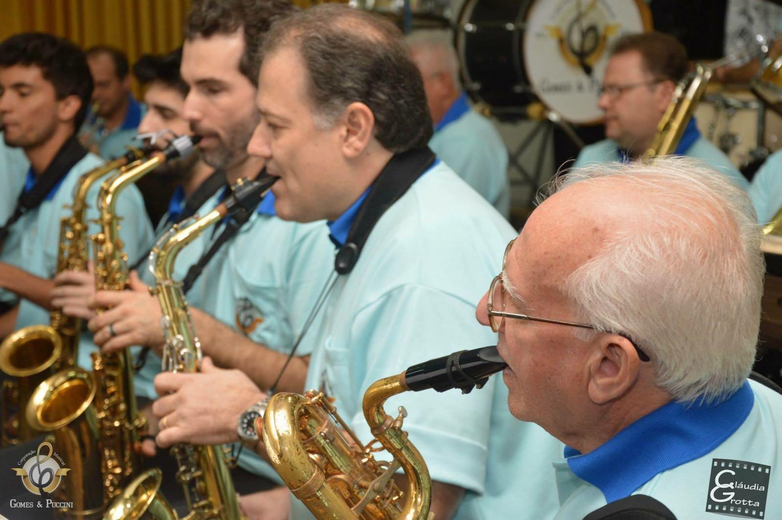 Banda centenária Gomes e Puccini (Foto: Reprodução/Claudia Grotta)