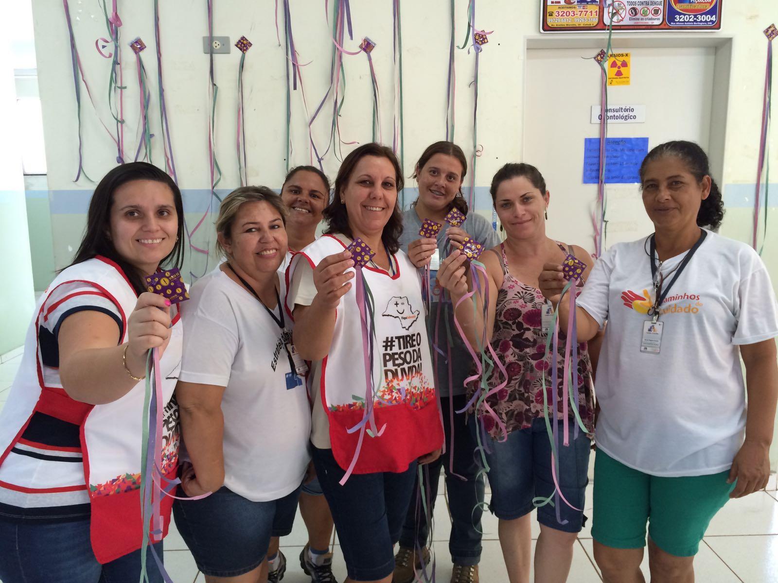 Equipe do Ciaf 7 realiza campanha no carnaval (Foto: Reginaldo Coelho/Jornal 101)