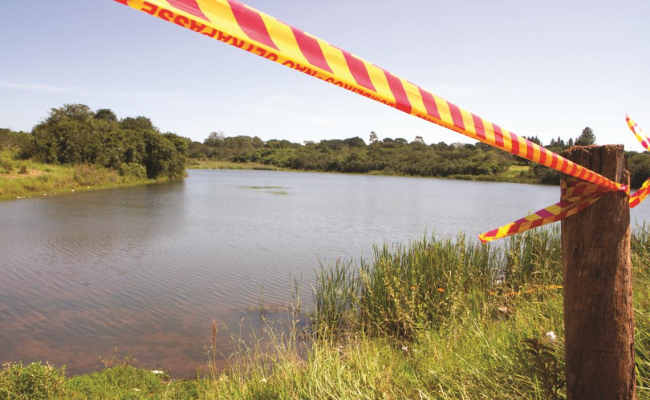 Banhistas devem evitar represas, segundo Corpo de Bombeiros (Foto: Reprodução/Amanda Rocha)