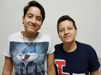 Laura Martini e Poliana Costa da Aminas A Trois (Foto: Renan Leite/Jornal 101)