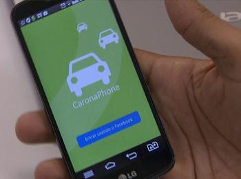 Carona Phone é um aplicativo gratuito (Foto: Reprodução/G1 Distrito Federal)