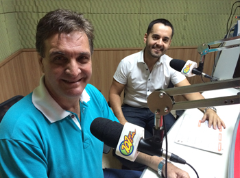 (Esq./Dir.) Renato Kamla, presidente da CDL, e Darlan Rocha, gerente do Senac (Foto: Fábio Penariol/Jornal 101)