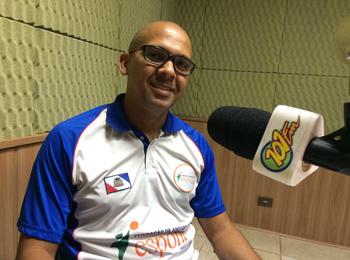 Poto, técnico da equipe de futsal de Jaboticabal (FOTO: Fábio Penariol/Jornal 101)