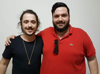 (Esq./Dir.) Gustavo Forte e Caio Rodrigues da Café a Dois (Foto: Renan Leite/Jornal 101)