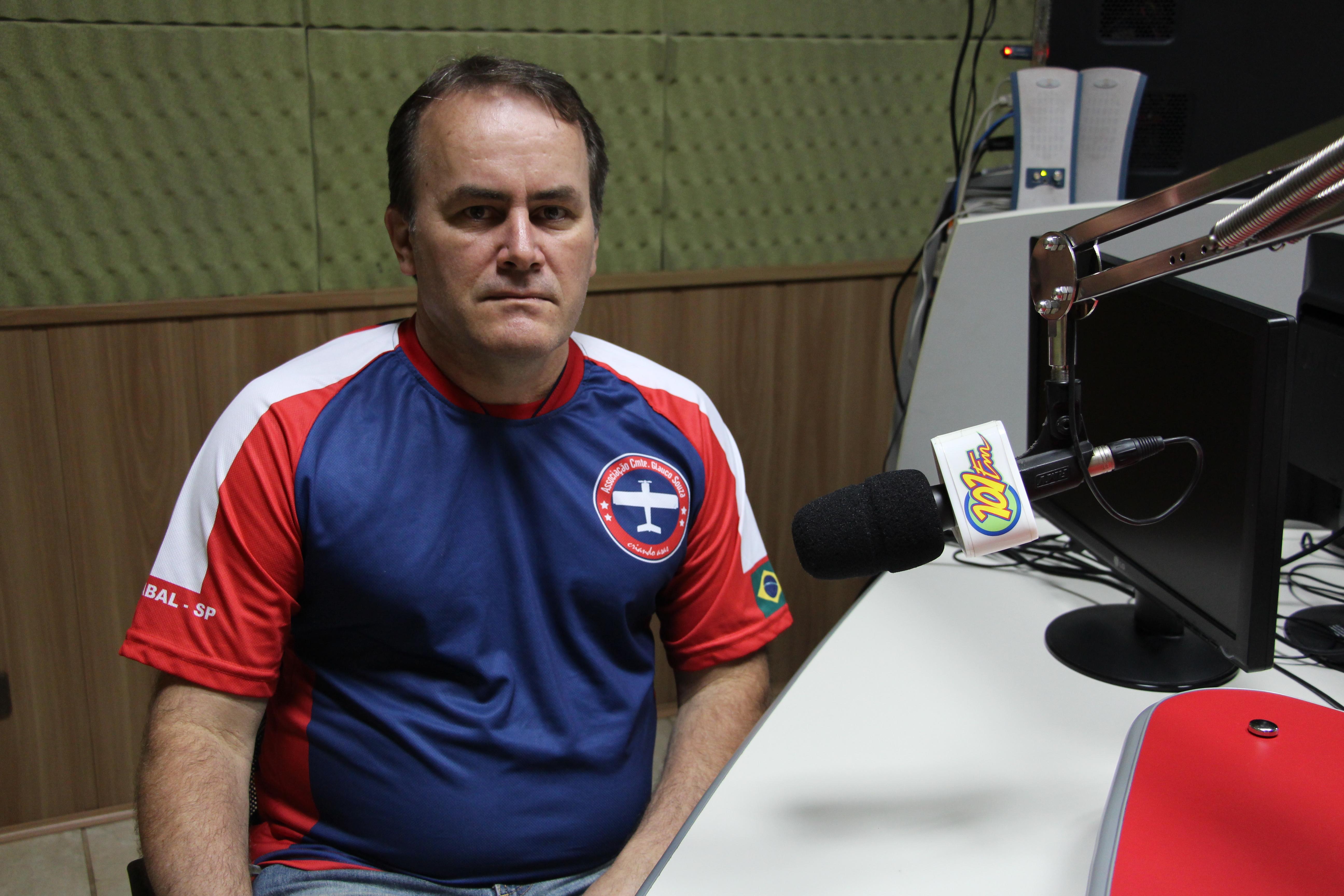 Marcos Alves, diretor da Associação Comandante Glauco Souza (Foto: Renan Leite/Jornal 101)
