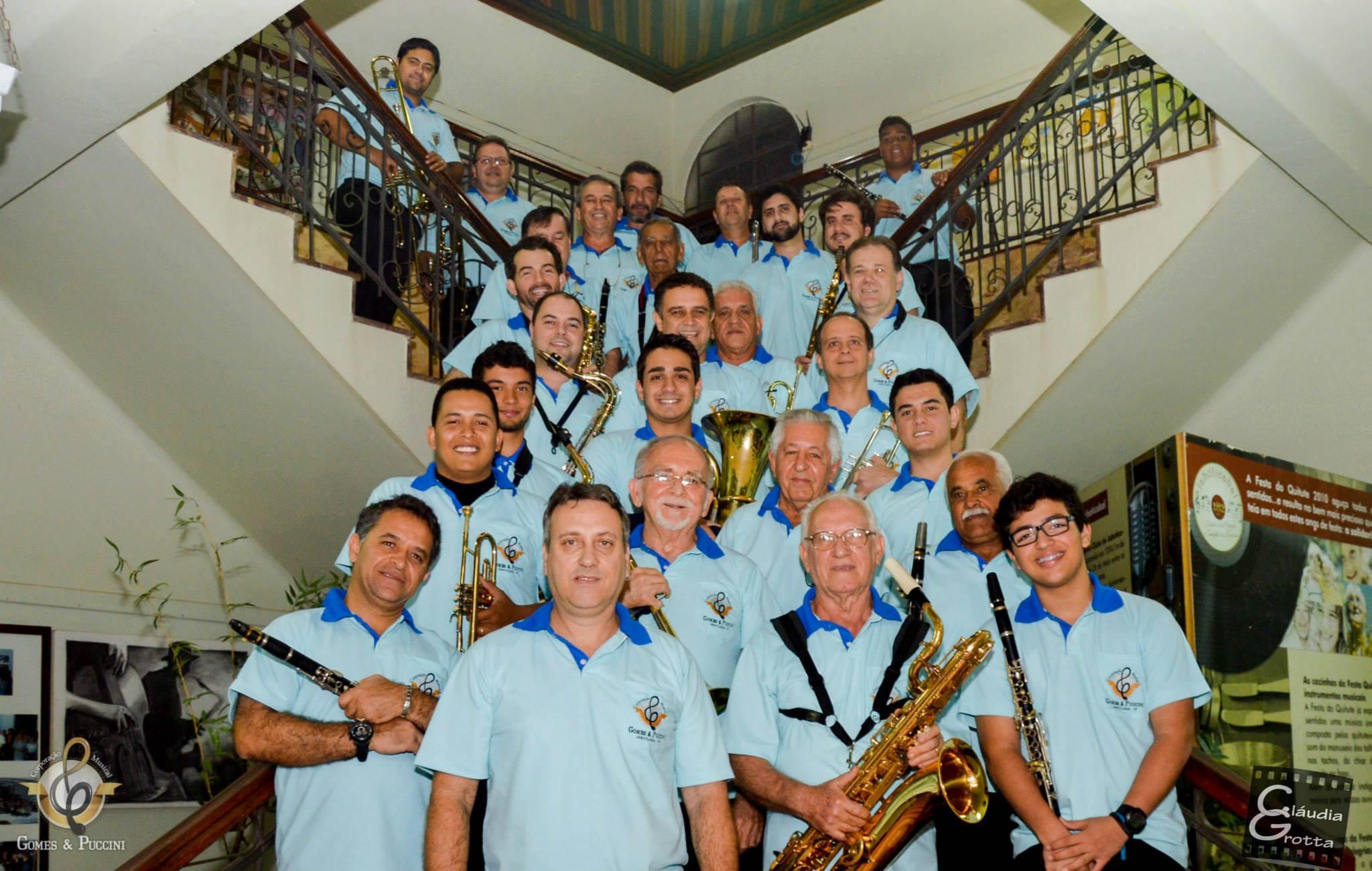 Corporação Musical Gomes e Puccini completou 104 anosno dia 8 de agosto (FOTO: Cláudia Grotta)