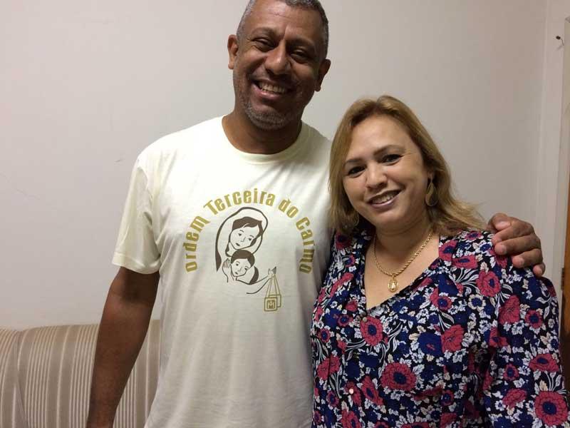Membros da ONG Fenix, Marcelo Felix e Maria Lourenço (Foto: Fábio Penariol/Jornal 101)
