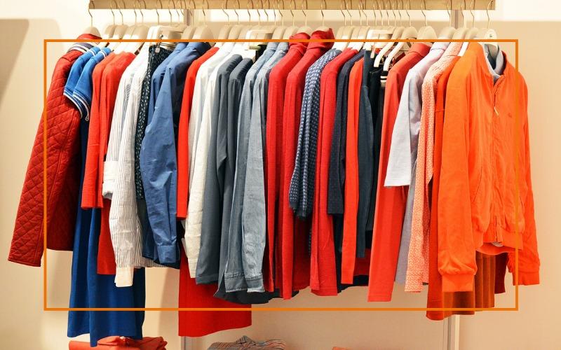 O ajuste e corte das roupas