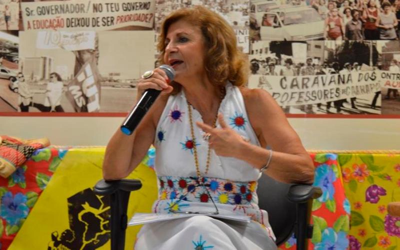 Yolanda Guerra, assistente social e docente da UFRJ, concede entrevista ao Jornal 101