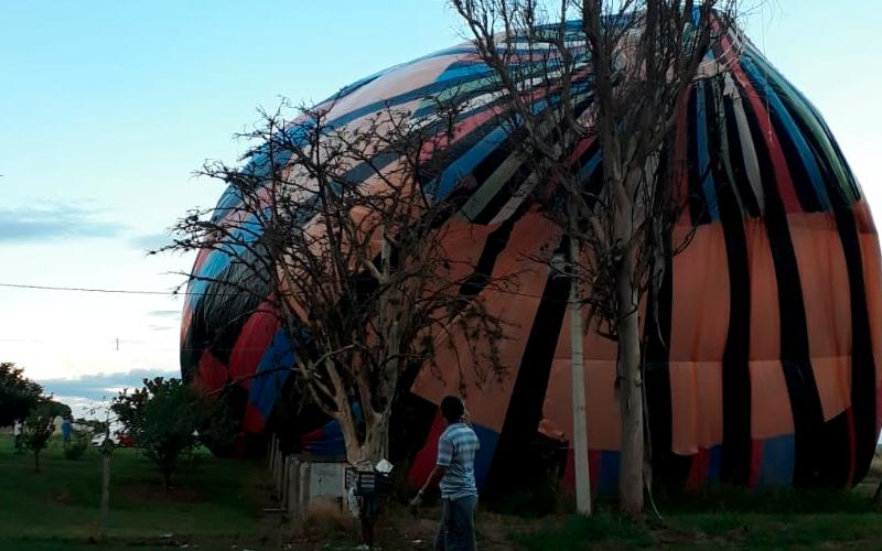 Gestor de segurança comenta sobre os perigos causados com a queda do balão