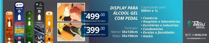 Display para Alcool Gel 1