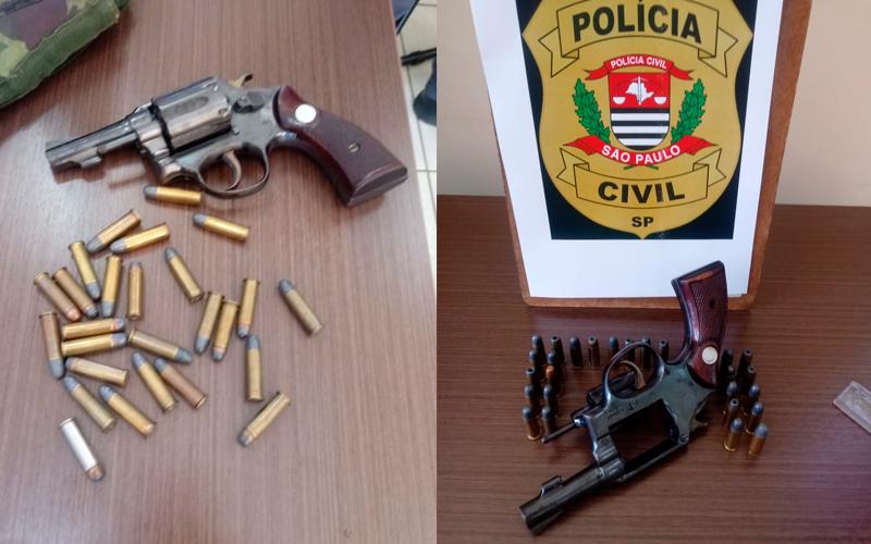 Duas armas de fogo são apreendidas após operação da Polícia Civil