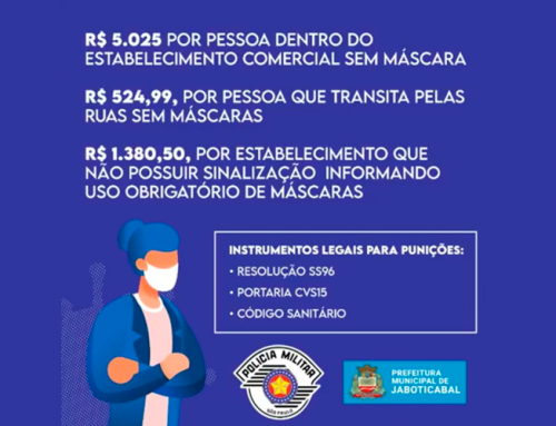 Responsável pela Vigilância Sanitária de Jaboticabal comenta sobre aplicação de multas para quem não utilizar máscara