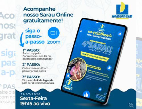 """Farmácia homeopática realiza mais uma edição do Sarau incluso no projeto """"Compartilhando Vidas e Hábitos Saudáveis"""""""