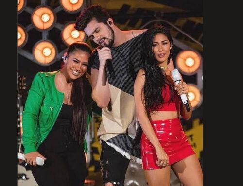 Luan Santana faz live com as coleguinhas na Black Friday