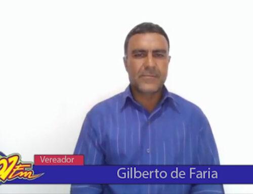 Vereador eleito Gilberto de Faria