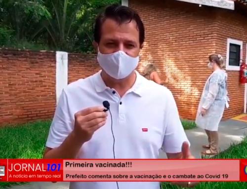 Prefeito Prof. Emerson (PATRIOTA) comenta sobre o início da vacinação em Jaboticabal contra o novo coronavírus