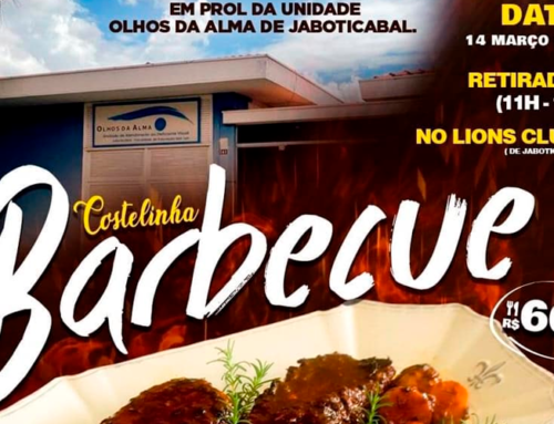 Entidade Olhos da Alma, de Jaboticabal, realizará almoço drive thru no próximo dia 14 de março das 11h às 14h