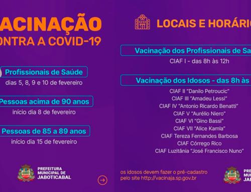 Vacinação de idosos e profissionais da saúde contra o novo coronavírus segue em Jaboticabal