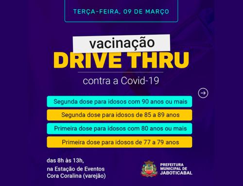 Saiba quem pode se vacinar nesta terça-feira, 9, no drive-thru do Centro de Eventos Cora Coralina, das 8h às 13h