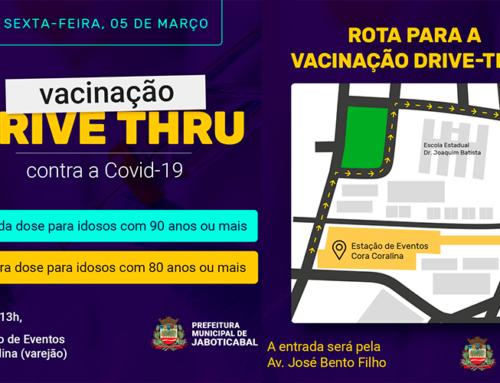Jaboticabal seguirá vacinação no sistema drive-thru; entenda quem pode se vacinar nesta sexta-feira, 5
