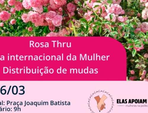 """Rosa-thru, evento do movimento """"Elas apoiam elas"""", acontece neste sábado, 6, às 9h, na Praça Dr. Joaquim Batista"""