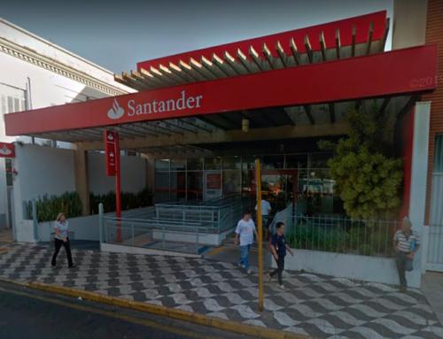 Agência central do Santander, localizada na Praça 9 de Julho, estará fechada nesta terça, 2; PMJ reforça atendimentos na agência do paço